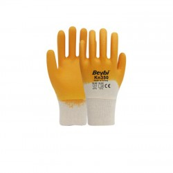 Beybi KN350 Sarı Nitril Eldiven No:9