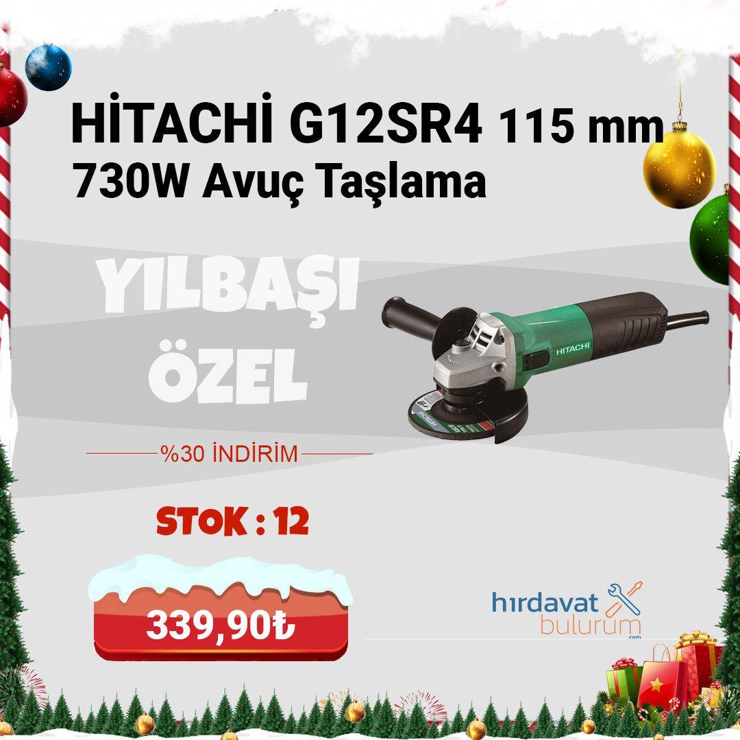 Hitachi G12SR4 115 mm 730W Avuç Taşlama