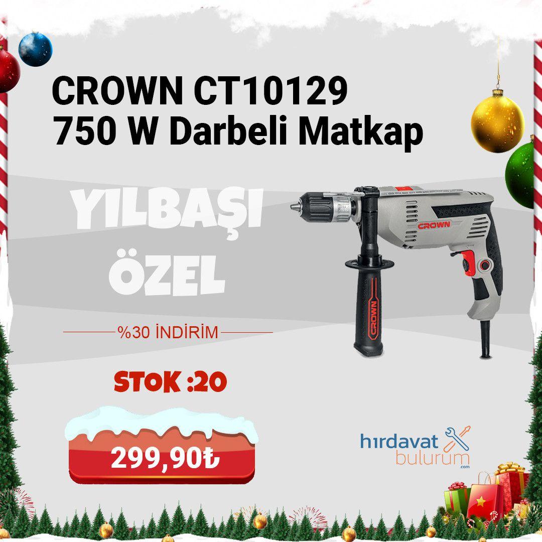 Crown CT10129 750W Darbeli Matkap