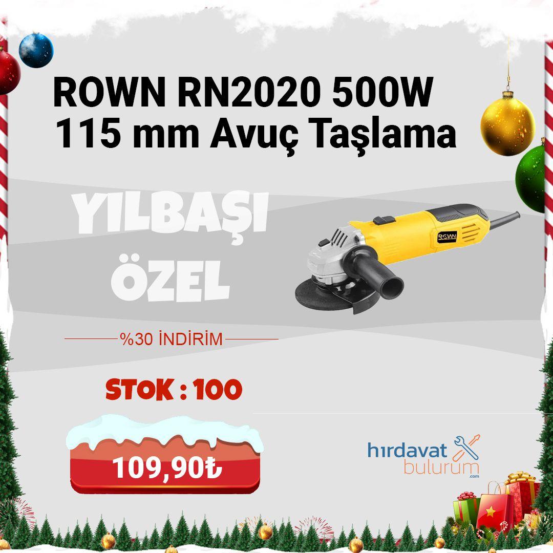 Rown RN2020 115mm 500W Avuç Taşlama