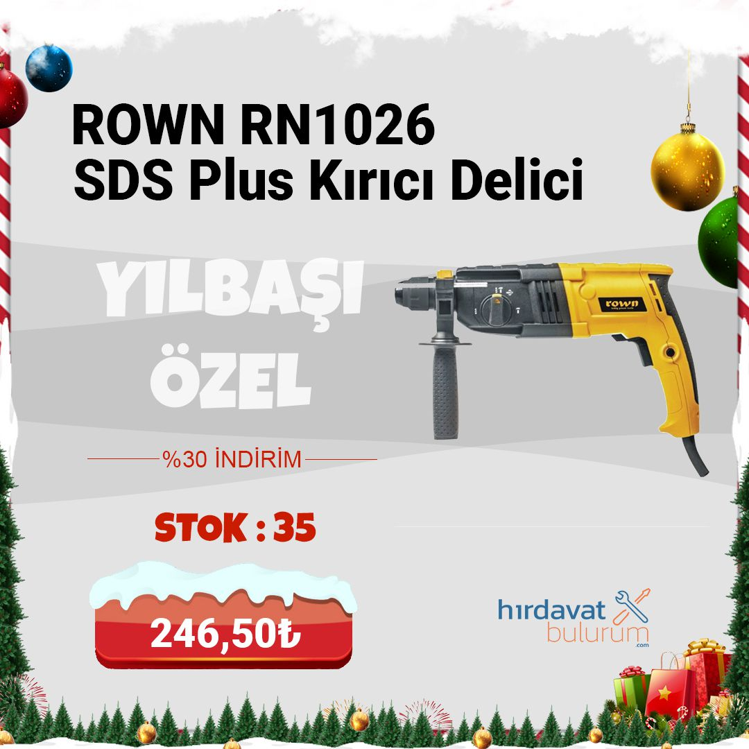 Rown RN1026 SDS Plus 620 W Kırıcı Delici