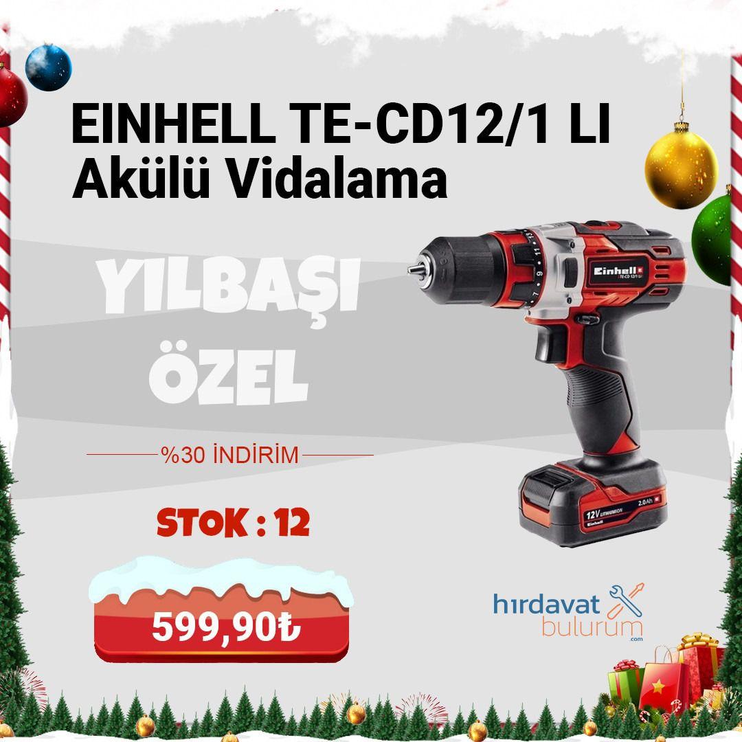 Einhell TE-CD12/1 Li Akülü Vidalama 12V 2 Amp