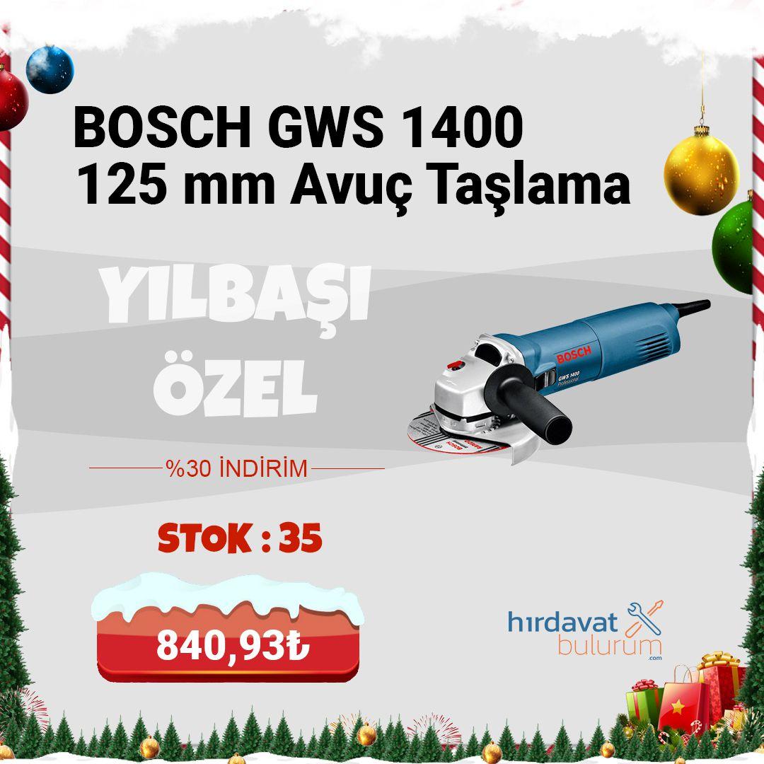 Bosch GWS 1400 125 mm 1400W Avuç Taşlama