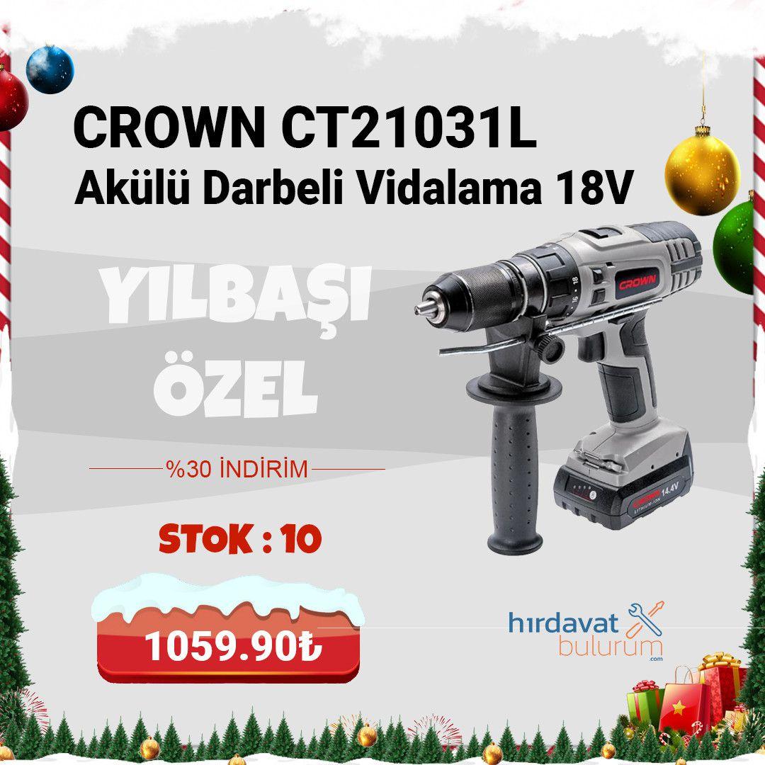 Crown CT21031L Akülü Darbeli Vidalama 18V 1.8Ah