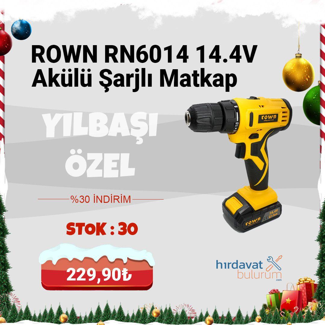 Rown RN6014 14.4V 1.3A Akülü Şarjlı Matkap