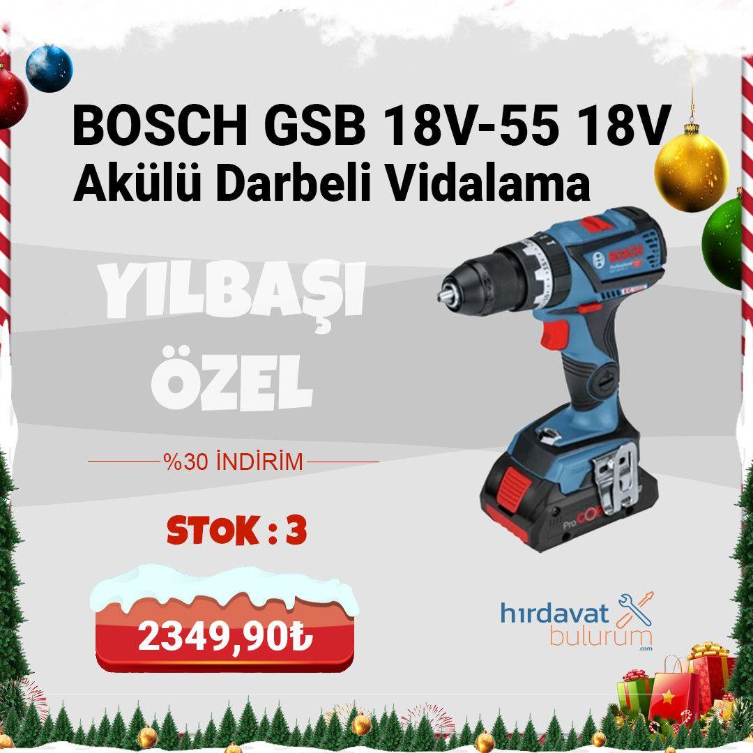 Bosch Gsb 18V-55 18V 4Ah Procore Akülü Darbeli Vidalama