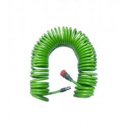 Green Air Hose Spiral Hava Hortumu 5x8 mm 15 Mt