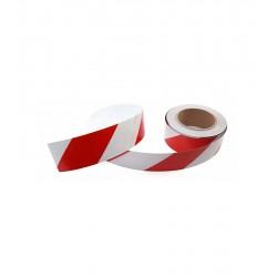 Globus Reflektifli Bant Kırmızı Beyaz 50 mm 23 Mt
