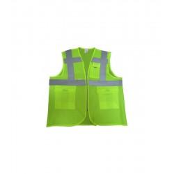İkaz Yeleği XL Fosforlu Mühendis Tipi Yeşil