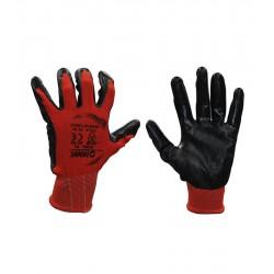 Demir Safety NSWG-01 10 Numara Nitril Eldiven Kırmızı Siyah